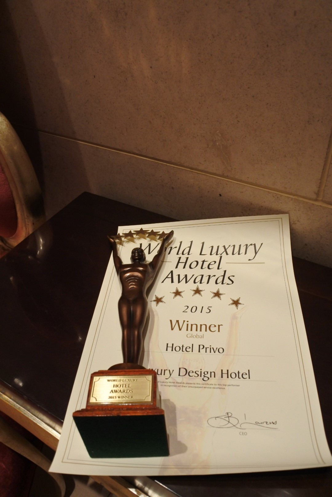 Hotel Privo World Luxury Hotel Awards