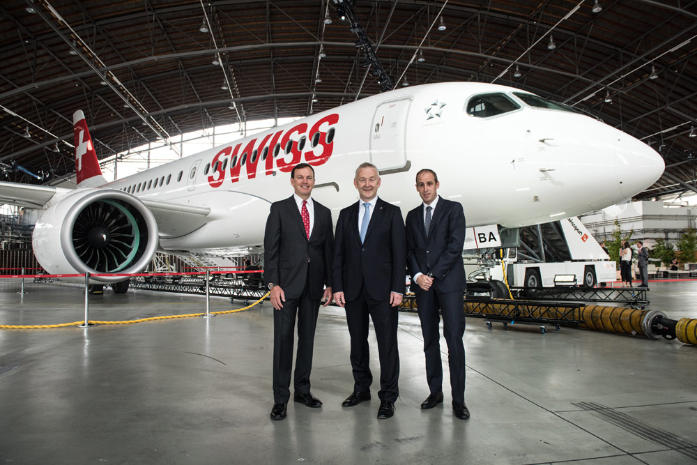 Bombardier CS100 by SWISS
