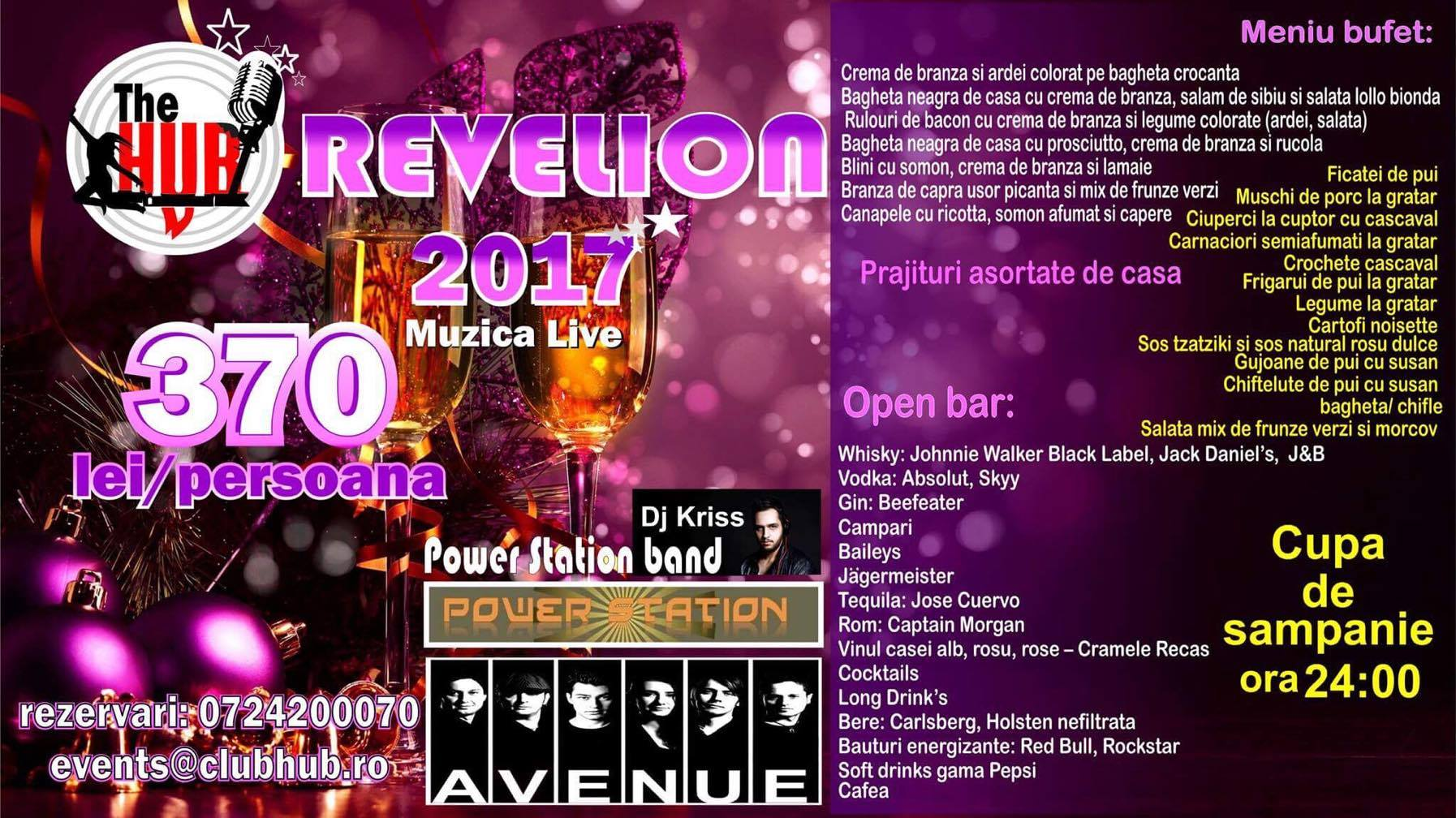 Revelion Club The Hub 2017 Bucuresti