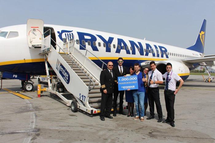 Ryanair pasagerul 1 milion
