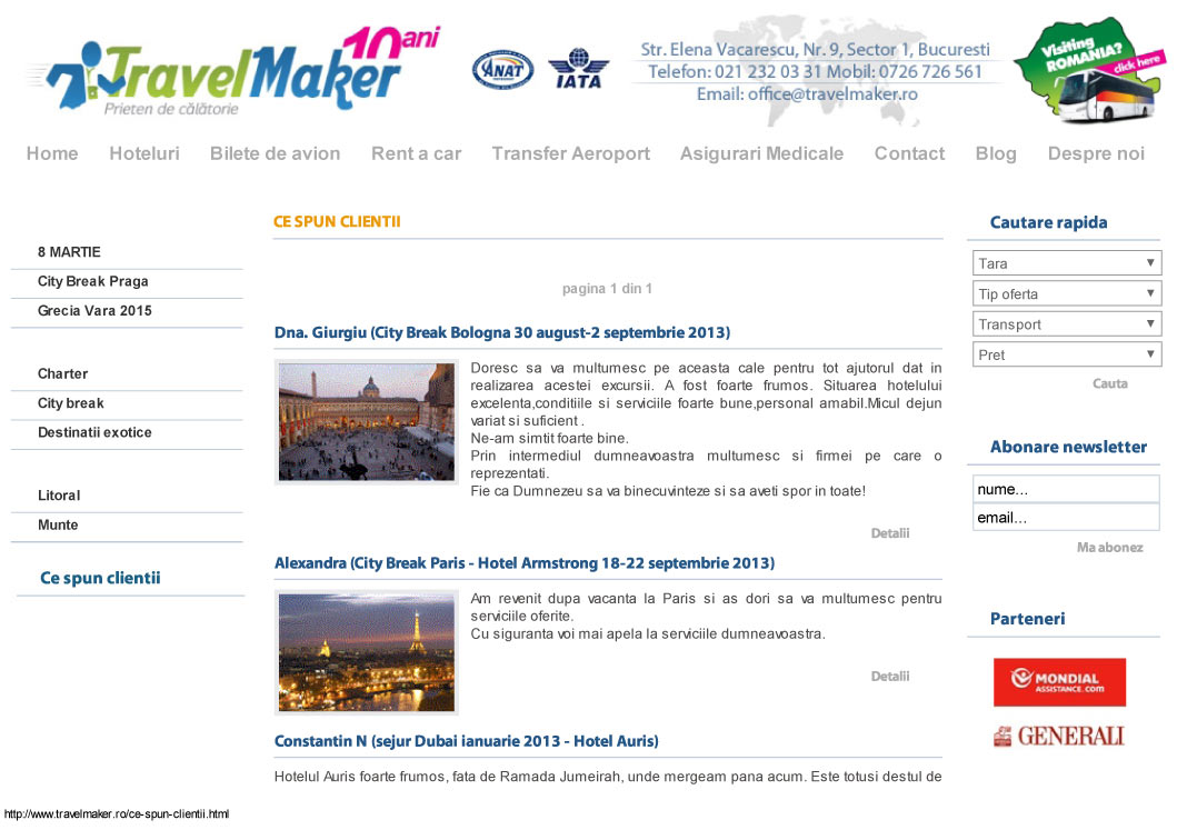 captura website TravelMaker